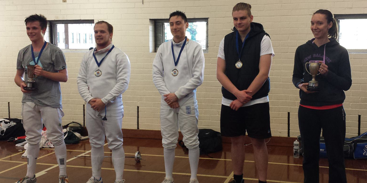 Photos of 2016 SUFC Epee Championships medallists
