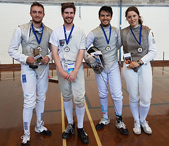 Photo of 2016 Handicap Foil medallists