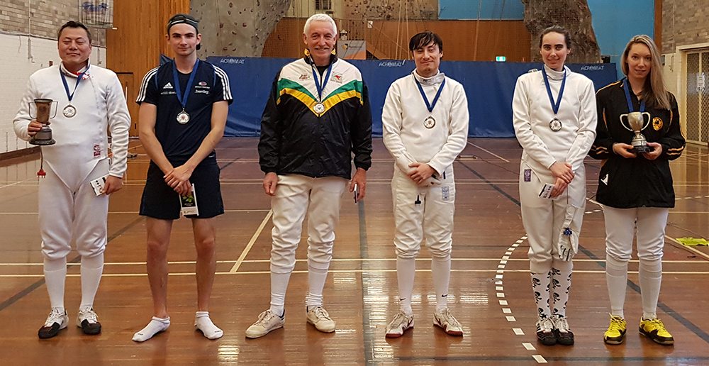 Sydney Uni Fencing Club 2017 Epee Championships medallists