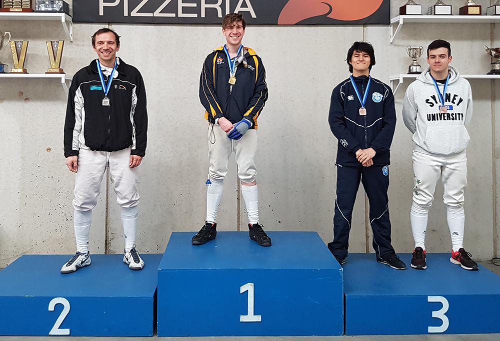 Podium photograph - City of Sydney Open Men's Foil