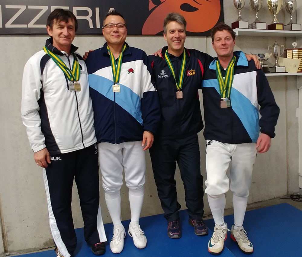 AFC3 Veteran Men's Epee podium